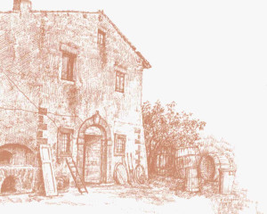 Disegno Antico Casale Minardi